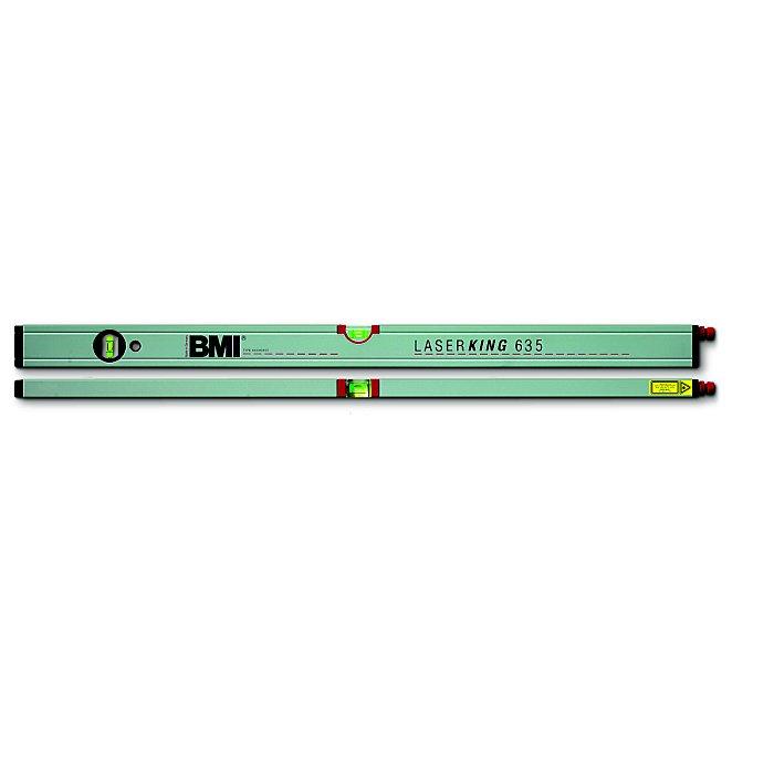 BMI Wasserwaage Laserking 80cm, mit Lasermodul 635, aus POM incl. Batterien 650080635