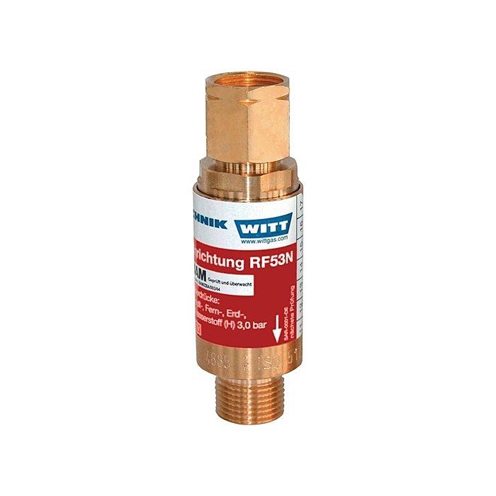 WITT Sicherungseinrichtung RF53N G3/8 LH Brenngas nach TRAC 207 145012