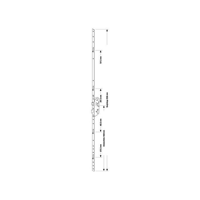 BKS Sicherheitstürverschl.Secury R4 Dorn 55mm Enf.72mm Stulp-B.20mm flach PZ gel. 6-30815-02-0-1