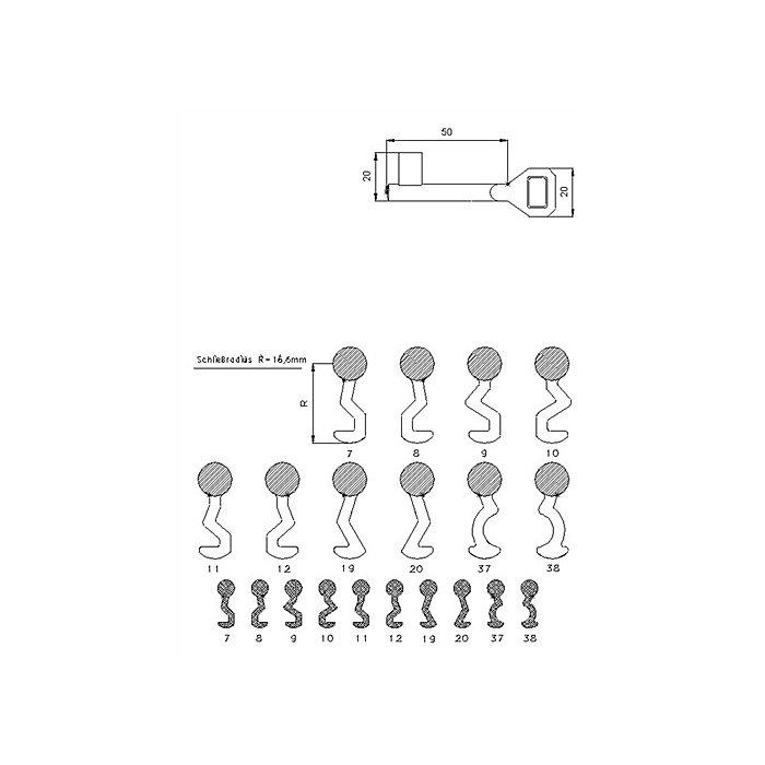 SSF Buntbartschlüssel Schließung Nummer 8 M0.166-04.19