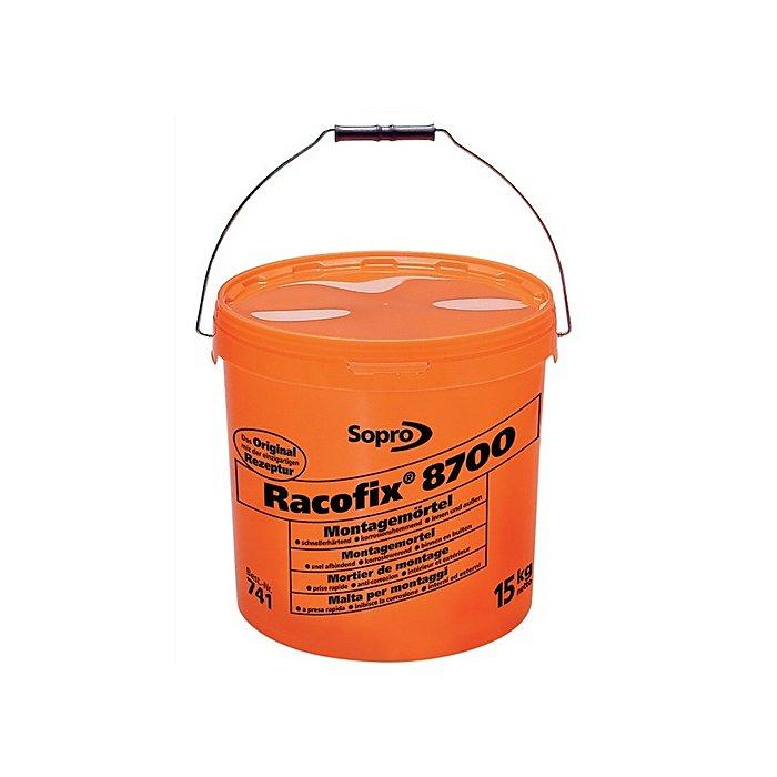 Sopro Montagemörtel Racofix 8700 Inhalt 15kg oranger Eimer Verarbeitungszeit 3-5 Min. 74145