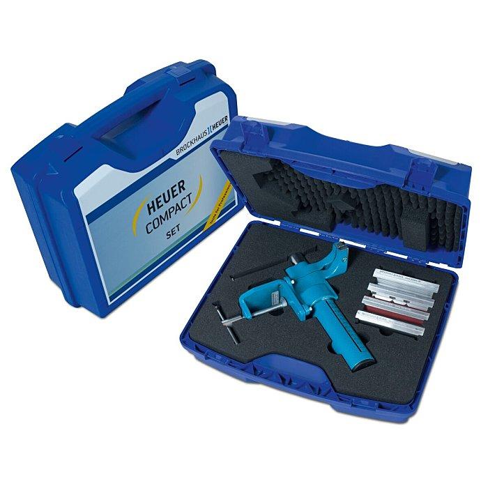 HEUER COMPACT Schraubstock 120 mm im Koffer mit Schutzbacken ! NEU ! 118003