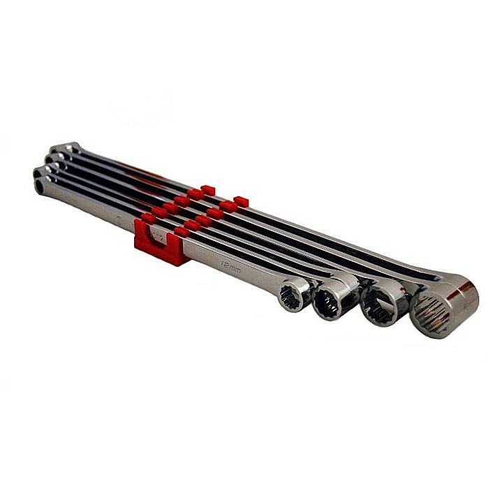 GENIUS Extra langes Doppelring Schlüsselset mit 0° Offset metrisch 6tlg. DE-706M