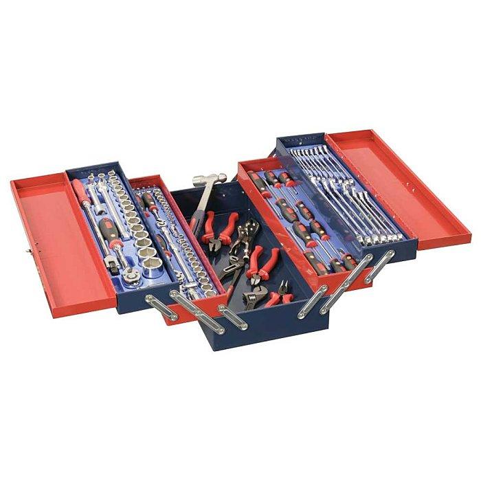 """GENIUS 1/4"""" 3/8"""" & 1/2"""" Werkzeugkasten metrisch 110-tlg. MS-110TS"""