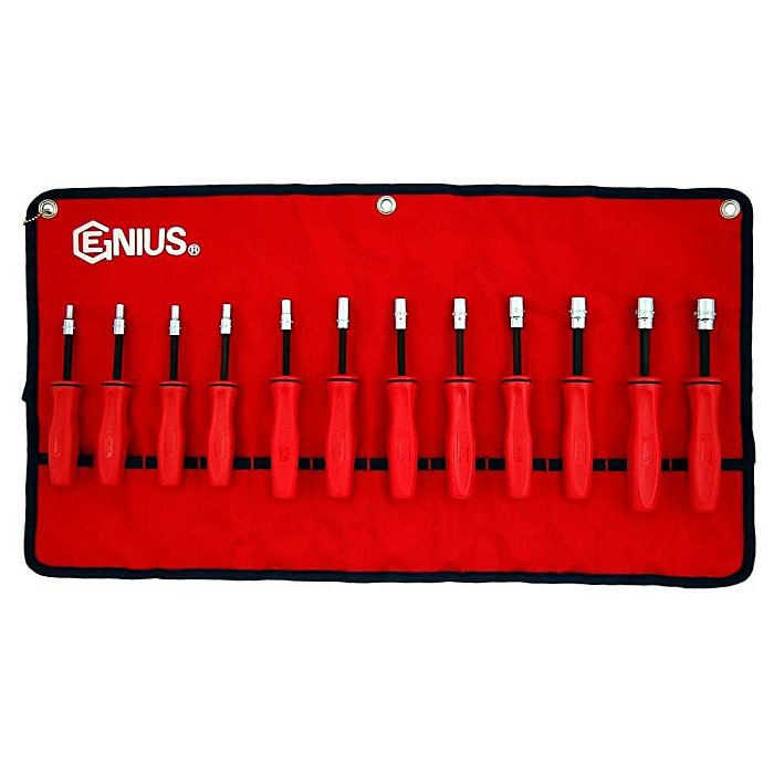 GENIUS Steckschlüssel Schraubendreher Satz 4 - 14mm metrisch 12tlg. ND-012M