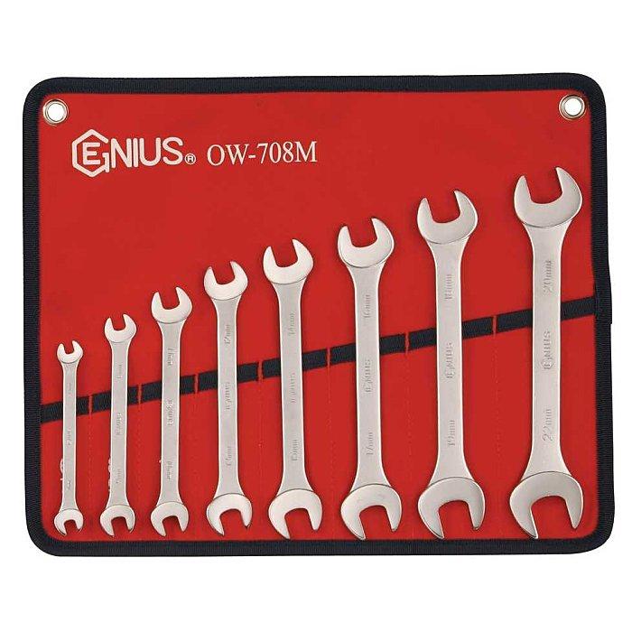 GENIUS Maulschlüssel Set, metrisch 8tlg. OW-708M