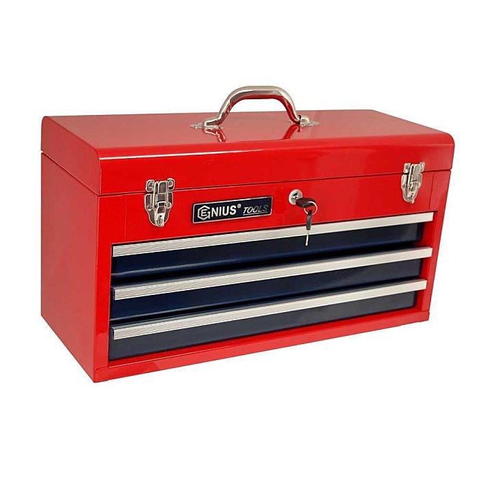 GENIUS Werkzeugkasten mit 3 Schubladen TS-123