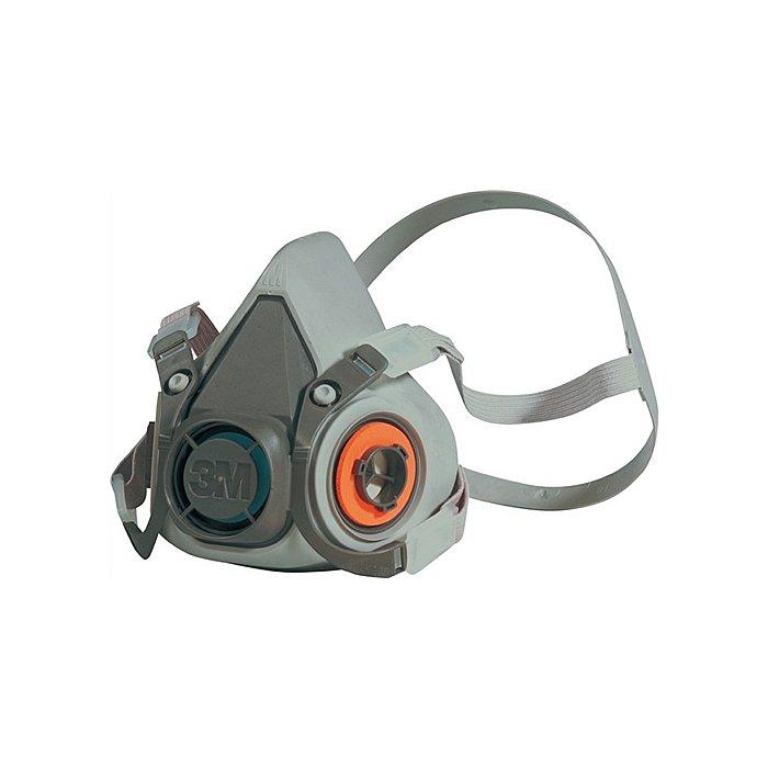 3M Atemschutzhalbmaske 6200 Serie 6000 o.Filter 4Pkt-Bebänderung 3M m.Kopfbügel