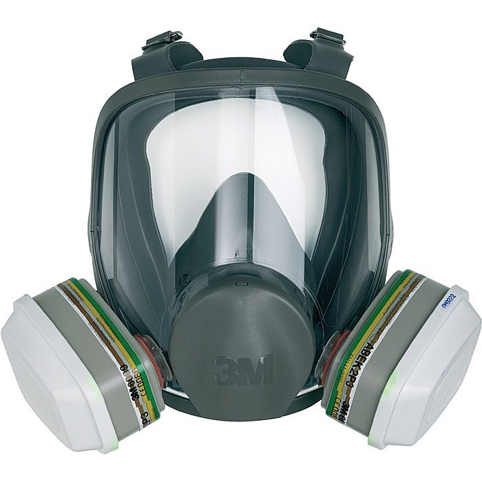 3M Atemschutz-Vollmaske 6800 Gr.M o.Filter 400g Kl.1 3M EN136 6800M