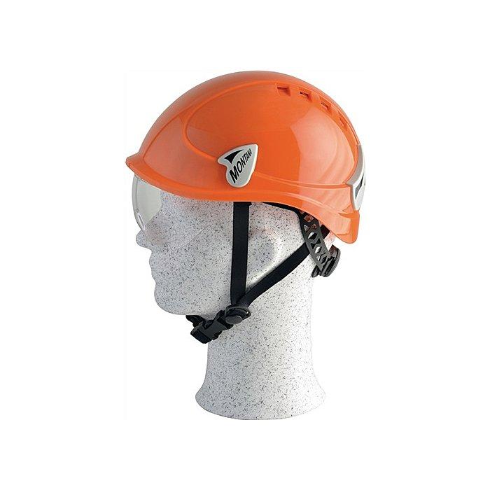 Artilux Schutzhelm Montana Roto orange m integr. Scheibe PC EN397 m. 6 Pkt.Textilbebänd. 23142