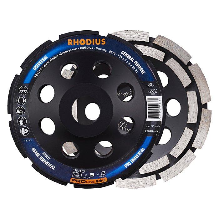 Rhodius Diamantschleiftopf DS10 PROline, 180 x 5,0 x 8,0 x 22,23mm 303766