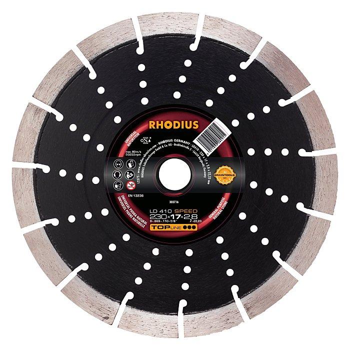 Rhodius Diamanttrennscheibe LD410 SPEED TOPline, 230 x 17,0 x 2,8 x 22,23mm 303716