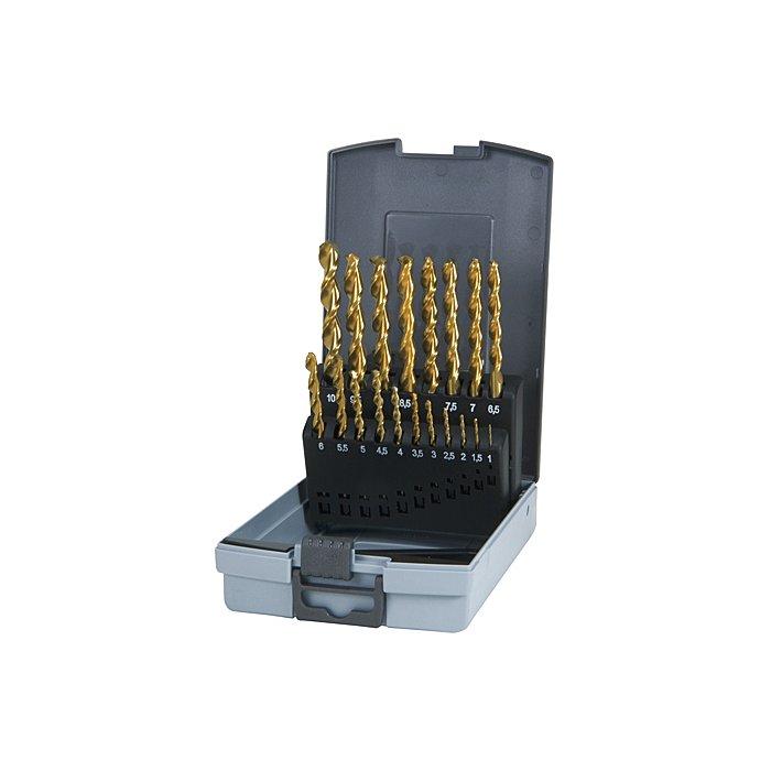 Ruko Spiralbohrersatz TL 3000 HSS TIN 19tlg. Rose-Box 258214TRO