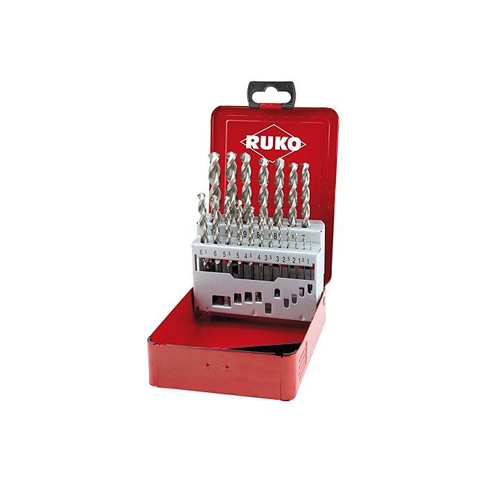 Ruko Spiralbohrersatz DIN 338 Typ W HSS G in Industriekassette 280214