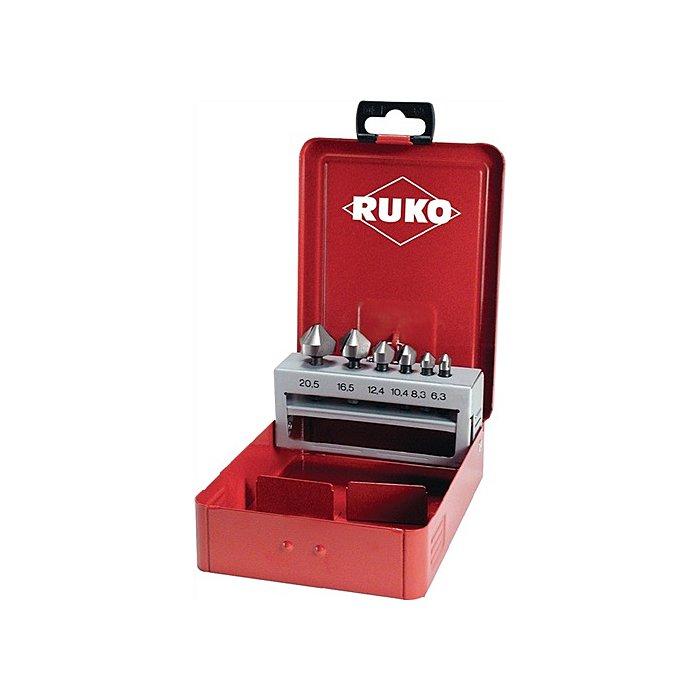 Ruko Senkbitsatz 7tlg. HSS 1/4Zoll i.Metallkassette W102319