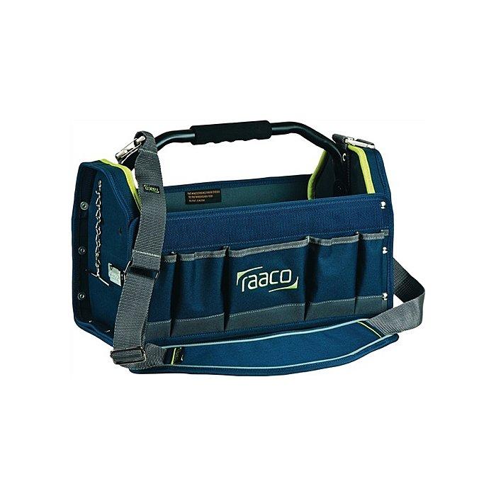 Raaco Werkzeugtasche B.419xT.206xH.264mm innen u.außen Taschen Hartplastik 760331