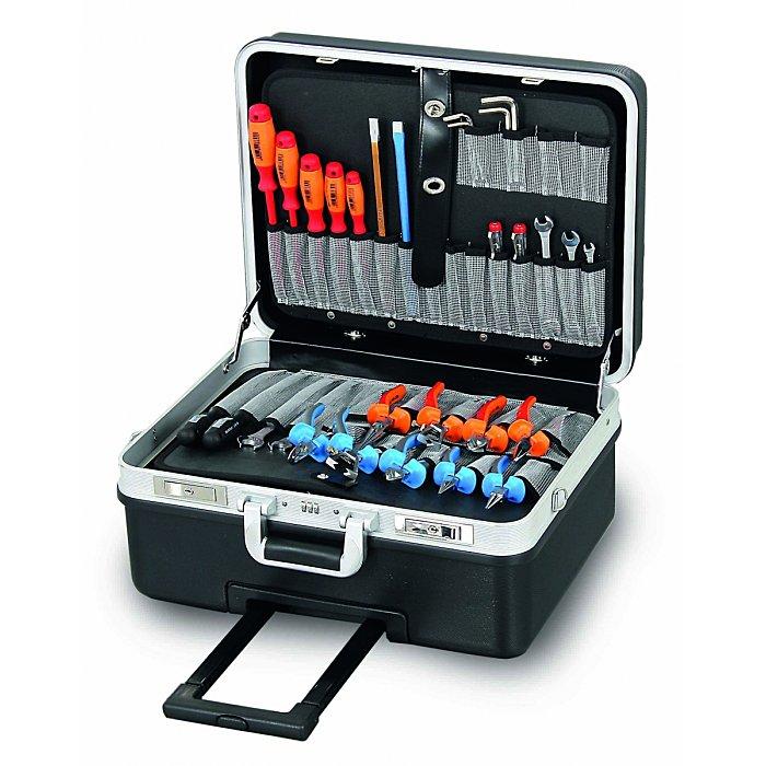 Hepco & Becker BASIC 5970 XXL-Werkzeugkoffer aus schlagfestes ABS schwarz mit integriertem Rollensystem 00 5970 8019