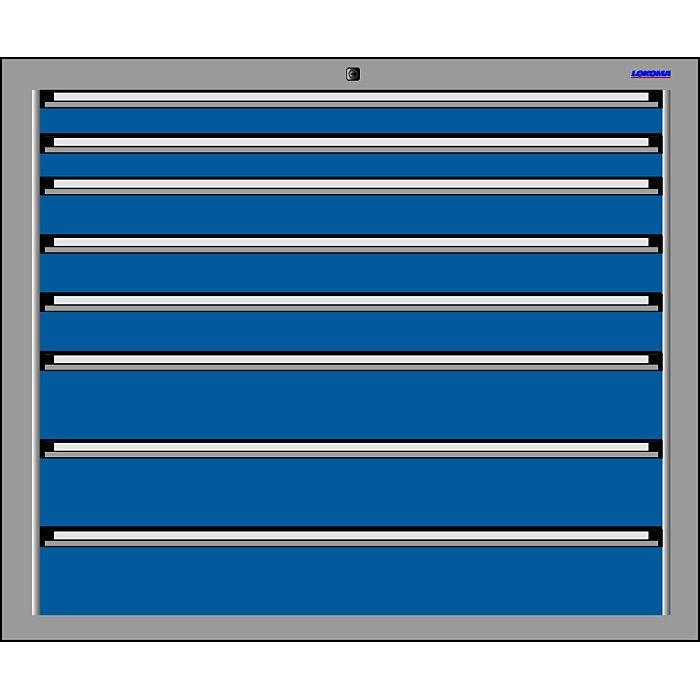 LOKOMA SCHUBLADENSCHRANK RS 1024, 1000h 8 SBL TA 2x75/3x100/3x150 00.02.7282