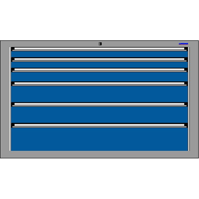 LOKOMA SCHUBLADENSCHRANK RS 1434;850h 2x75,1x100,2x150,1x200 VA 00.02.7642