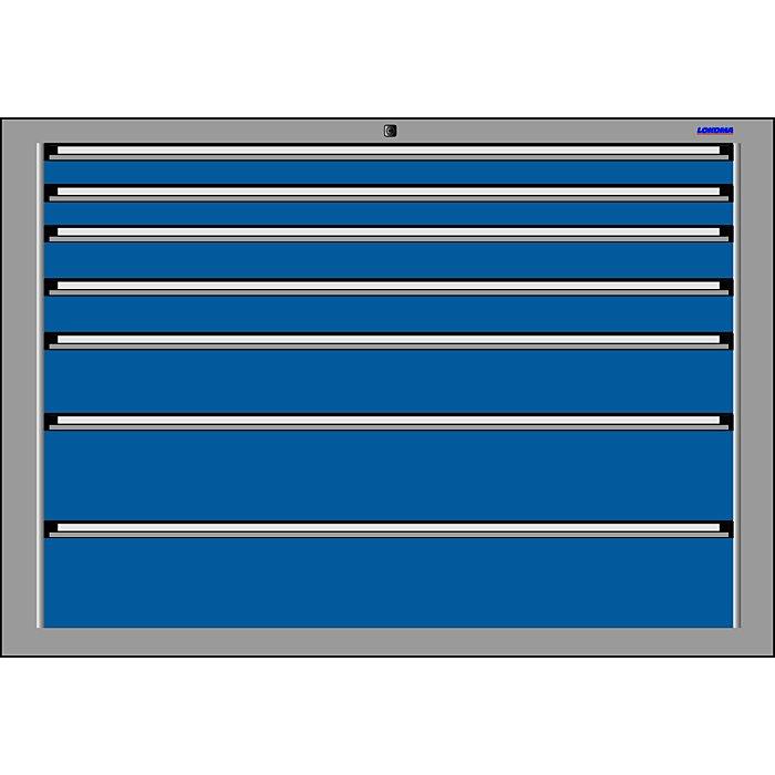 LOKOMA SCHUBLADENSCHRANK RS1434;1000h 2x75, 2x100,150 u. 2x200 VA 00.02.7646