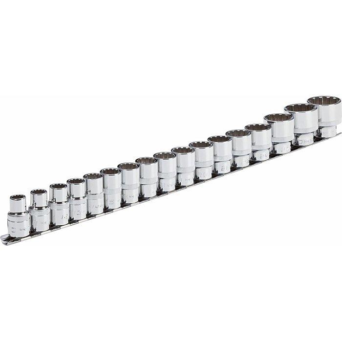 Vigor Multiprofil Steckschlüssel Satz - Multiprofil - 10 – 32 - Anzahl Werkzeuge: 17 V1898