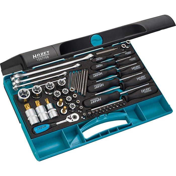 HAZET Werkzeug-Satz TORX® - Anzahl Werkzeuge: 58 1557/58