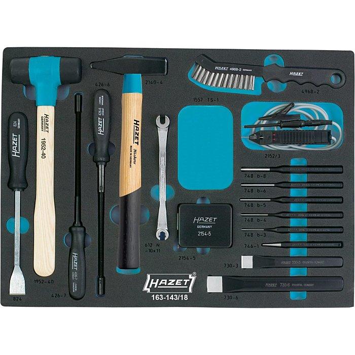 HAZET Universal-Satz - Außen-Sechskant Profil - Anzahl Werkzeuge: 17 163-143/18