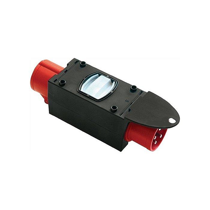 Jaege CEE-Adapter IP44 16/32A CEE/3Sicherung. CEE-Kupplung 400V 6h 5polig 9436422