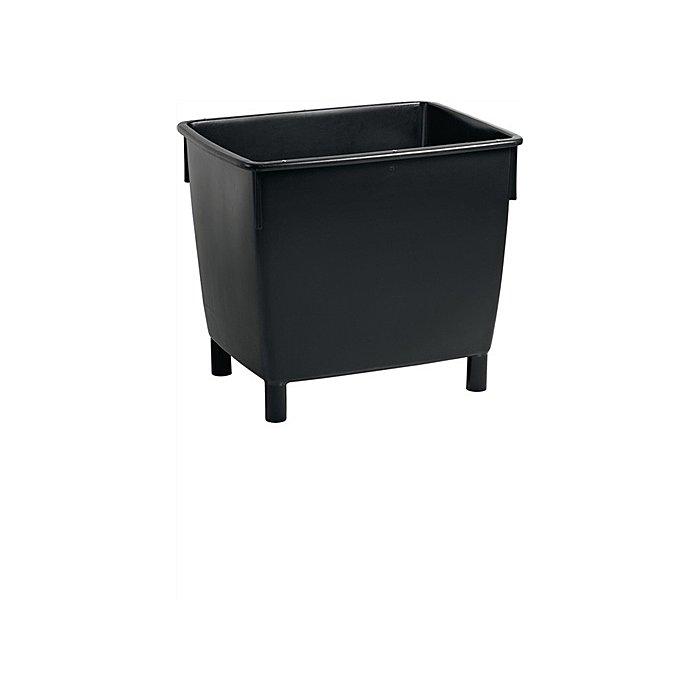 Craemer Transportbehälter schwarz 400l L945xB725xH830mm m.Ablaufloch/Stopfen 8101    2220