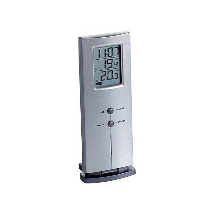 TFA Funkthermometer silber digital 166g H.170xB.65xT.35mm f.innen 30.3009.54.IT