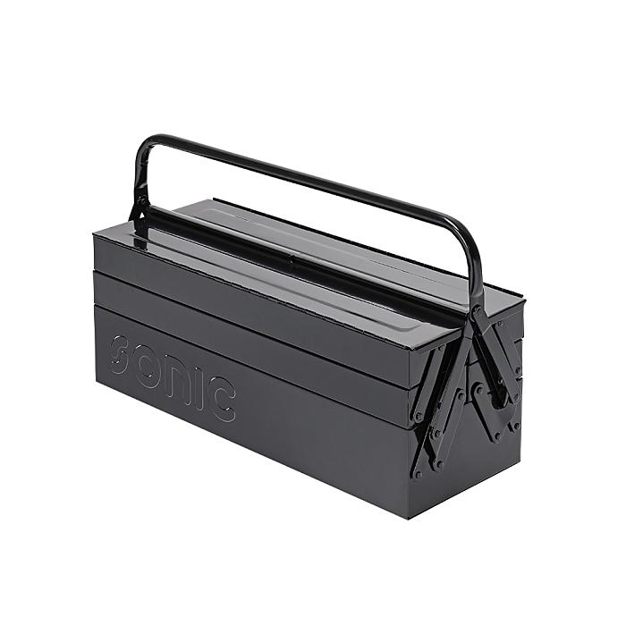 Sonic Werkzeugkiste, schwarz mit 5 Fächern 4730415