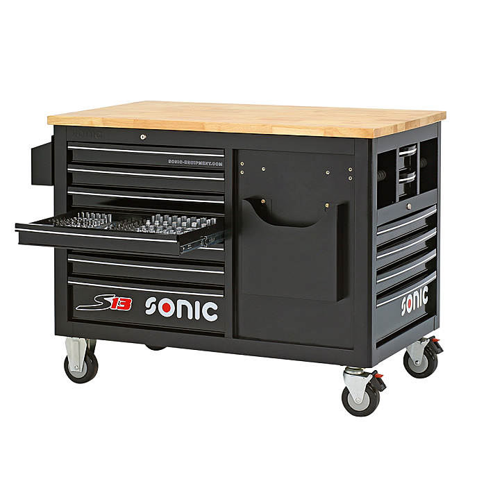 Sonic Werkstattwagen leer, S13, schwarz 47308113