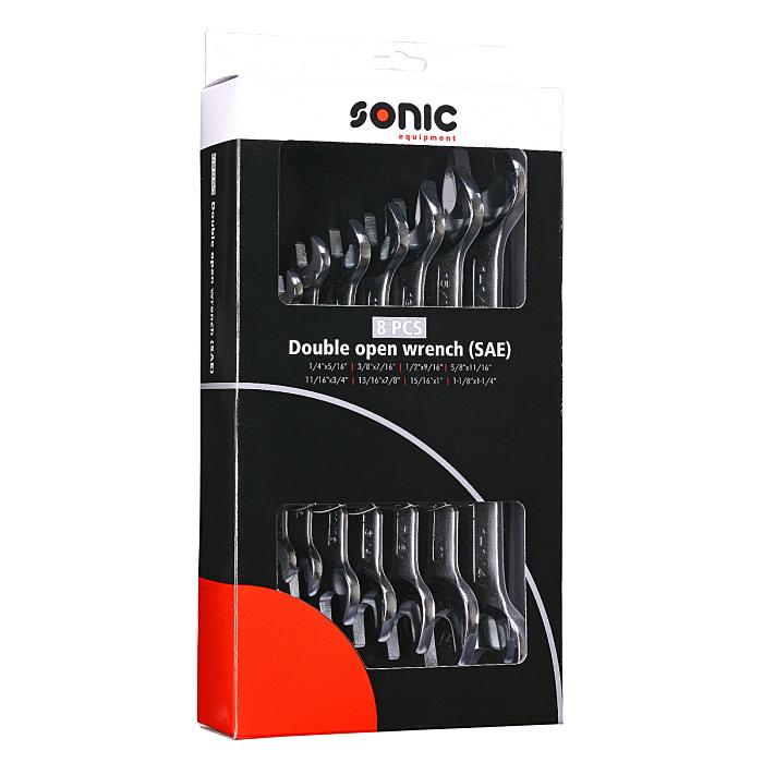 Sonic Gabelschlüsselset, SAE, im Karton, 8-teilig 600806