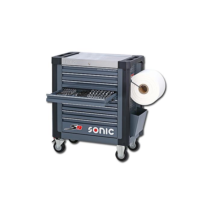 Sonic Werkstattwagen S9 gefüllt, 302-teilig Schaum 1/3, dunkelgrau 730231