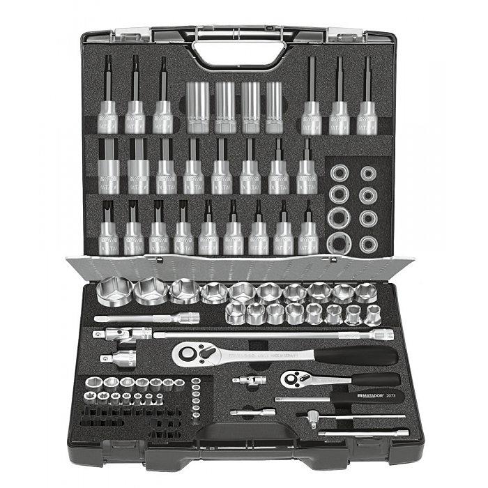 MATADOR Werkzeugsatz, ALLROUND, 6-kt.mm, 81-tlg., 6,3 (1/4) - 12,5 (1/2) 4145 9120