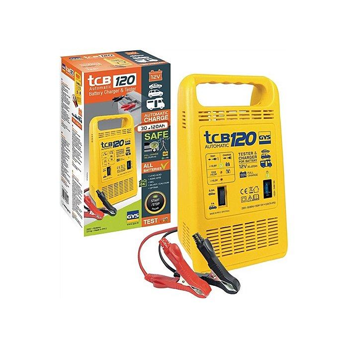 GYS Batterieladegerät TCB 120 12V 30-120Ah / Ladestrom 3,5-7,0A / max.150W/230V 23284
