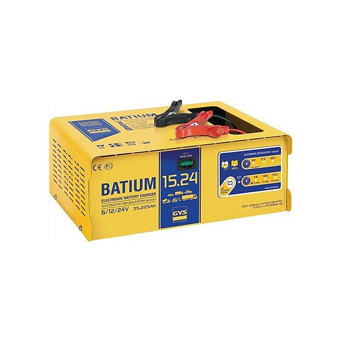 GYS Batterieladegerät BATIUM 15-24 6/12/24V 35-225Ah / Ladestrom 22/7-10-15A / max. 24526