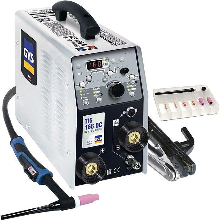 GYS WIG-Schweissgerät TIG 168 DC HF 1x230V 10-160A kpl.ohne Druckminderer 11410