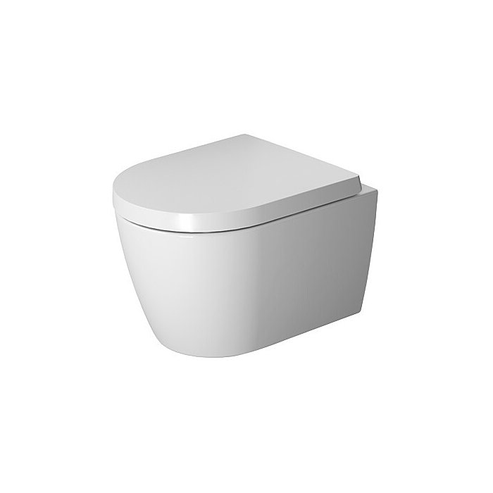 DURAVIT Wand-WC ME by Starck Compact 480 mm Tiefspüler, rimless, Durafix, weiss 2530090000