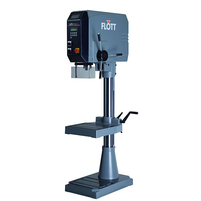 Flott SB P30 STG PV electronic Säulenbohrmaschine mit verstellbarem Bohrtisch (graue Abdeckung) 205183