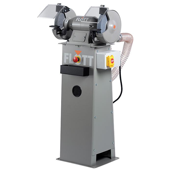 Flott TS 200 SD P Doppel-Schleifmaschine mit Ständer, Not-Aus, Bremse, Absaugung 317777
