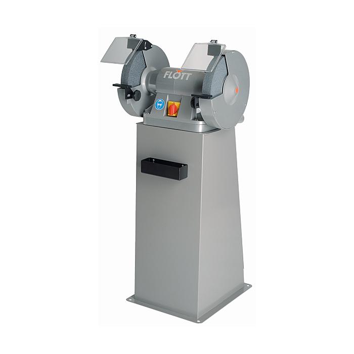 Flott TS 300 SD P Doppel-Schleifmaschine mit Ständer, Not-Aus, Bremse, Absaugung 317779