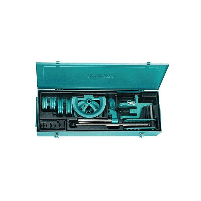 GEDORE Handbiegeapparat f.Rohre 15,18,22 und 28mm 6tlg. bis 180Grad i.Stahlblechkasten 4571830