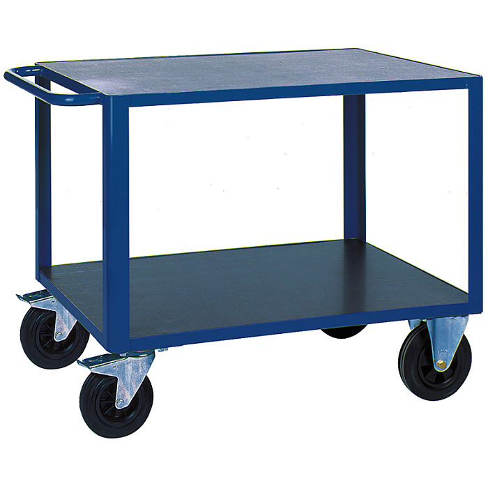 KLW Tischwagen mit 2 Ladeflächen aus phenolharzvergütetem Sperrholz 8604-6013P-2C12