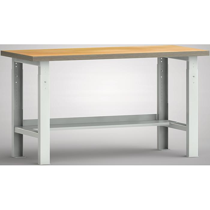 KLW Standard-Werkbank - 1500 x 700 mm L x T, Höhenverstellung: 740 - 1040 mm WS513V-1500M40-X1582