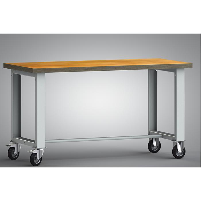 KLW fahrbare Standard-Werkbank - 1500 x 700 x 840 mm L x B x H WS885N-1500M40-X7000