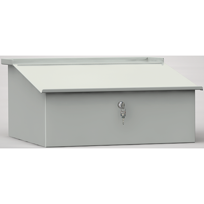 KLW Schreibpult-Aufsatz aus Metall, mit Zylinderschloss 07/13-MS