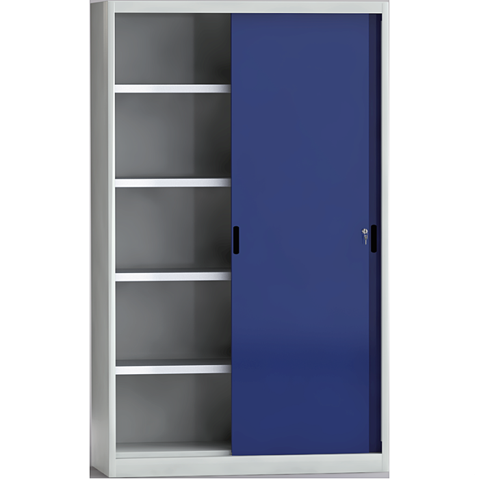 KLW Schiebetürenschrank ohne Mitteltrennwand - 2000 x 1200 x 525 mm H x B x T 7SN-QL2000TB-2012XRB