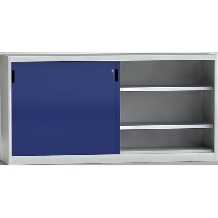 KLW Schiebetürenschrank mit Mitteltrennwand - 1000 x 2000 x 525 mm H x B x T 7SN-UL1000TB-1020MRB