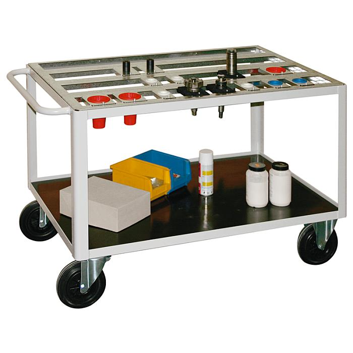 KLW Tischwagen für Werkzeugträger 15/KT-6014-2-56HSK63